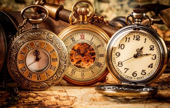Picture watch, pocket, Antique, Vintage