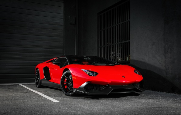 Picture Lamborghini, Red, Color, Aventador, Supercar, 50th Anniversary, LP720-4, Customized