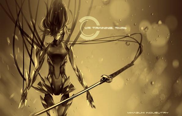 Picture weapons, wire, robot, katana, art, mikazuki industry