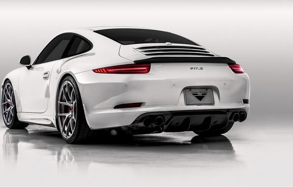 Picture 911, Porsche, back, white, Porsche, Carrera, 2015, Carrera 4S