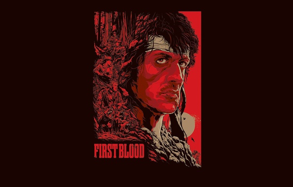 Picture action, Sylvester Stallone, Rambo, First blood, John Rambo