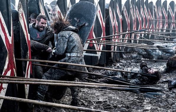 wallpaper game of thrones shield warrior spear hbo 6 season