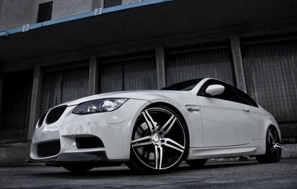 Picture white, bmw, BMW, white, wheels, boxes, e92