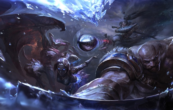 Picture bullet, League of Legends, Shyvana, Caitlyn, Yasuo, Sheriff of Piltover, Lady of Clockwork, Orianna, moba, …