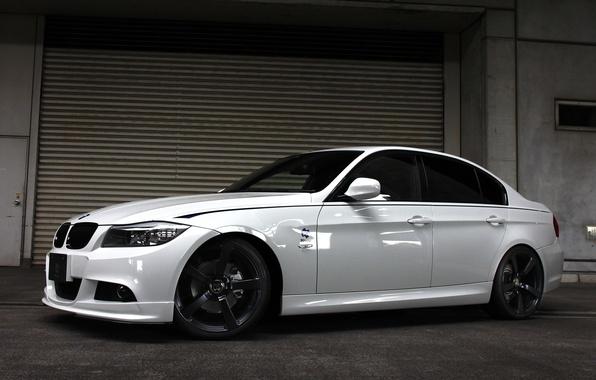 Picture white, tuning, BMW, BMW, sedan, Sedan, E90, 3 Series, 2014, 3D Design