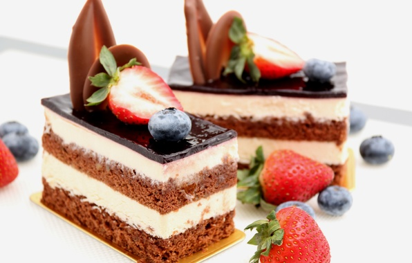 Picture cake, cake, cake, dessert, cakes, sweet, chocolate, chocolate, sweet, strawberry, dessert, berries