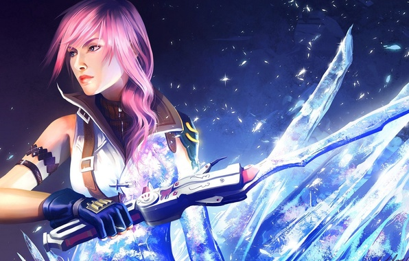 Picture girl, weapons, girl, long hair, Final fantasy, Lightning, fanart, fanart, Final fantasy xiii, Mathia Arkoniel, …