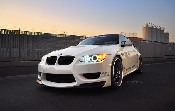 Picture bmw, white, e92, eas