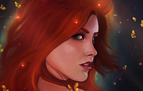 Picture look, art, Ariel, the little mermaid, red hair, Disney Mermaids
