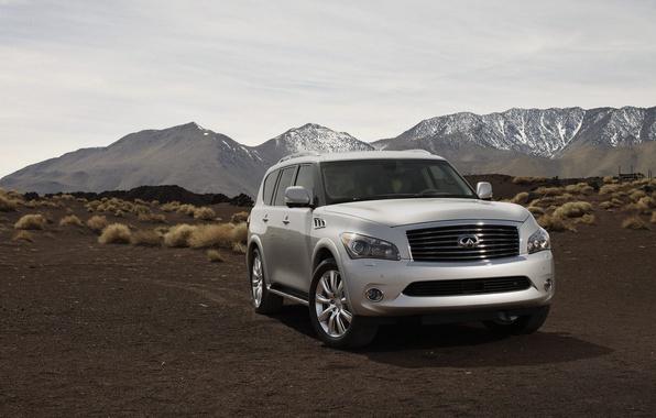 Picture auto, mountains, nature, view, jeep, infiniti, infiniti