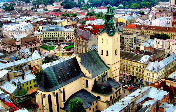 Picture the city, Cathedral, Ukraine, the Church, Cathedral, Lions, Shrine, Holy places