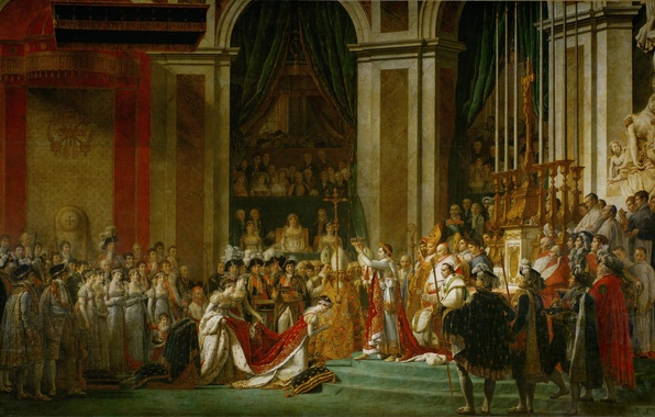 Picture Napoleon, Jacques-Louis David, art, The anointing of the Emperor, The Coronation Of Napoleon