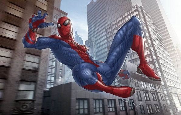 Picture art, Spider-man, marvel comics, The Amazing, Patrick Brown, fan