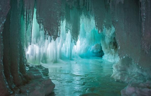 Picture water, lake, ice, light, cave, water, lake, the grotto, Ice, cave, stalagmites, stalactites, Emi, stalagmites, ...