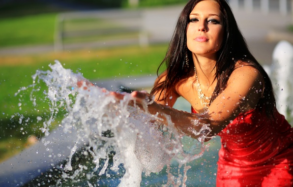 Picture look, water, squirt, model