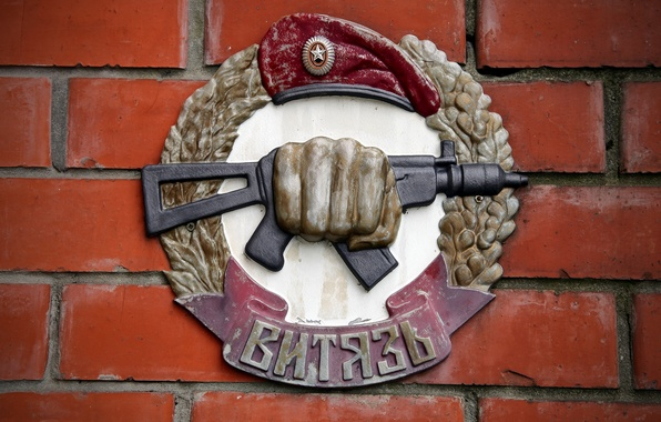 Picture wall, coat of arms, Russia, special forces, Knight