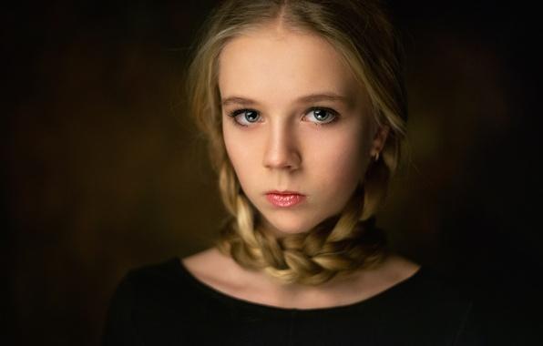 Picture portrait, braids, the art style, Polina Panova, Polina Panova