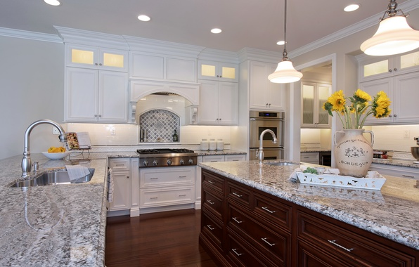 Picture design, photo, table, lamp, interior, kitchen