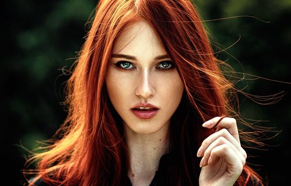 Picture girl, portrait, sponge, the beauty, George Chernyadev, Leah Meyer