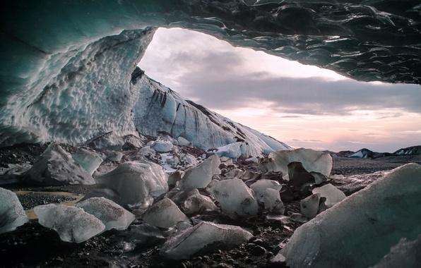 Picture macro, nature, ice