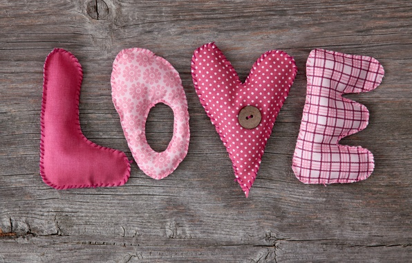 Picture love, heart, wood, pink, romantic, letters, handcraft
