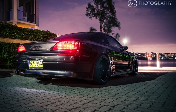 Picture night, nissan, black, Nissan, silvia, s15, Sylvia