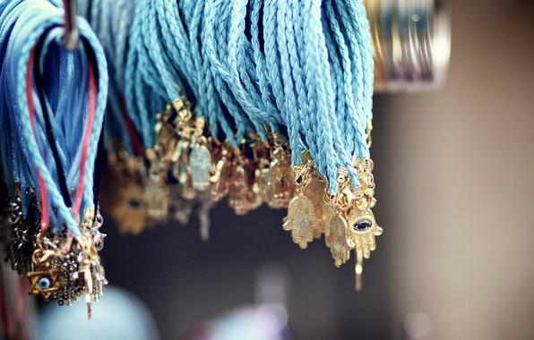 Picture bracelets, palm, suspension