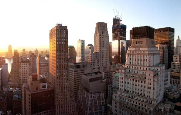 Picture sunset, new York, United States, Sunset, New York, New York City, nyc, Lower Manhattan