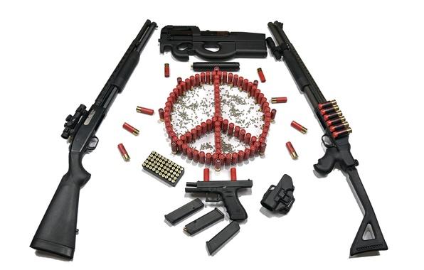 Picture gun, weapons, sign, machine, cartridges, shotgun