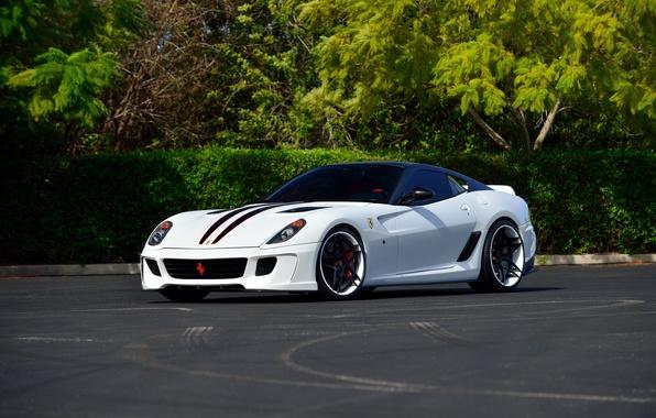 Picture white, Ferrari, supercar, Ferrari, 599, Vorsteiner