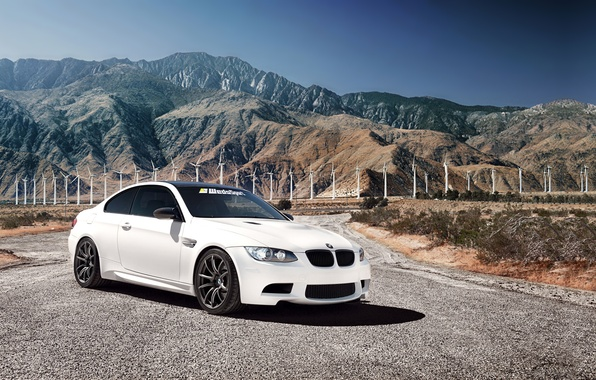 Picture mountains, tuning, BMW, windmills, bmw m3, 1013mm