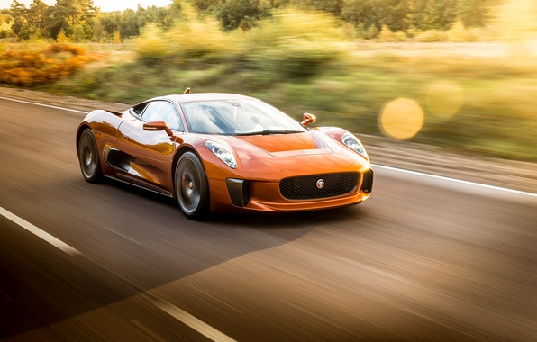 Picture supercar, in motion, Jaguar C-X75