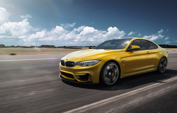 Picture BMW, German, Car, Speed, Front, Yellow, F82