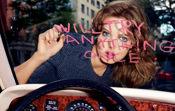 Picture look, model, hairstyle, photographer, brown hair, writes, car, Lindsey Wixson, Terry Richardson, Dior, Lindsay Vikson, …