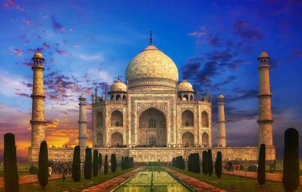 Wallpaper castle india monument temple taj mahal the - Taj mahal screensaver free download ...