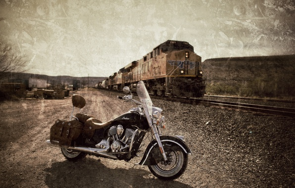 Picture style, motorcycle, bike, legend, Indian Chief