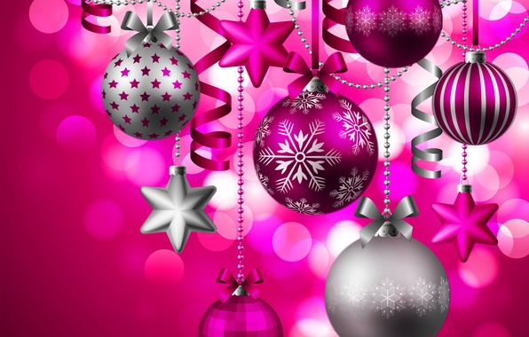 Picture decoration, holiday, toys, star, Christmas, ball