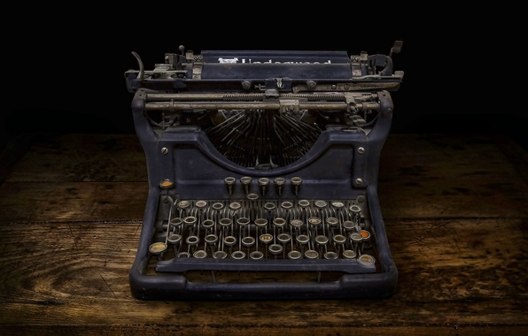 Picture Lost, Abandoned, Typewriter