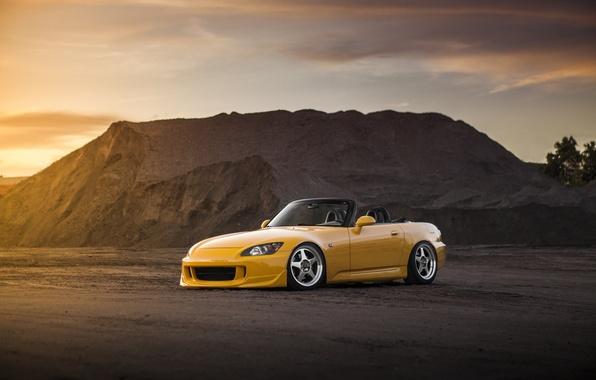Picture yellow, tuning, Honda, Honda, yellow, tuning, s2000