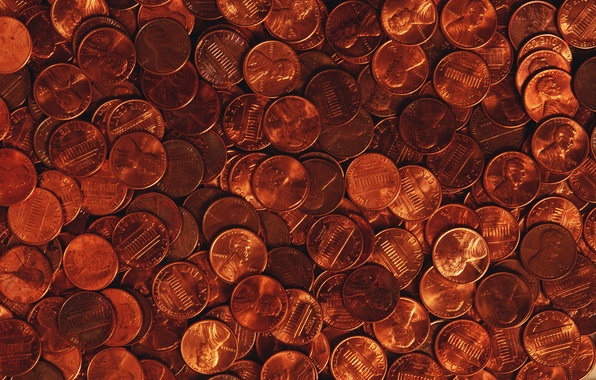 Picture metal, labels, money, texture, Coins, metal, USA, USA, coins, texture, money, lettering, cents, one cent, …