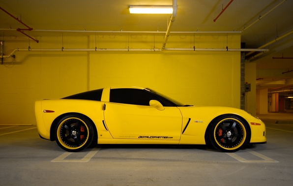 Picture Chevrolet, Parking, City, Parking, corvette, chevrolet, cars, auto, stop, z06, wallpapers auto, Wallpaper HD, Parking