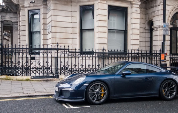Picture Porsche, Blue, GT3, London, Supercar, 991