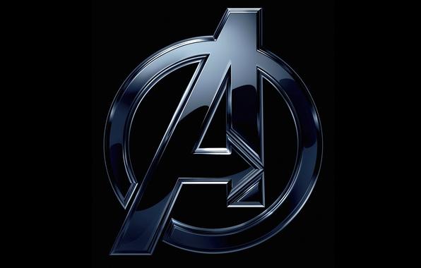 Picture fiction, logo, black background, comic, MARVEL, The Avengers, The Avengers