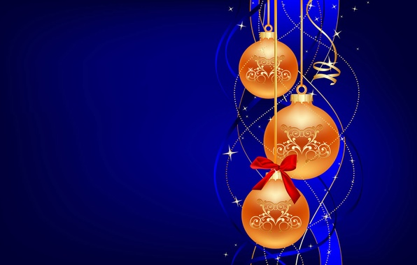 Picture decoration, Wallpaper, toys, new year, ball, Christmas, ball, bow, serpentine, bow