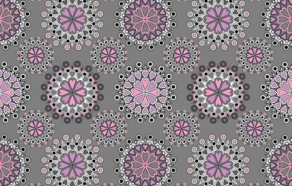 Picture pattern, texture, grey background, ornament