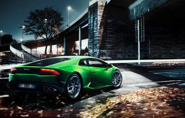 Picture Lamborghini, Green, Lamborghini, Green, Huracan, Huracan, LP610-4