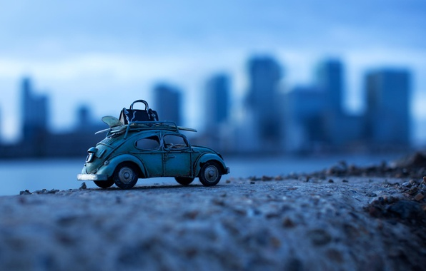 Picture machine, the city, background, blur, old