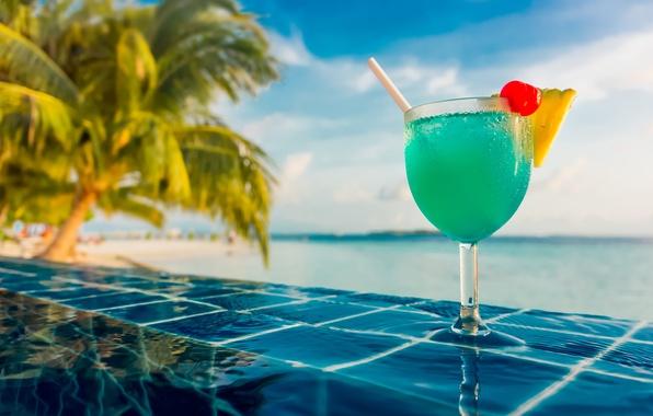 Picture water, joy, vigor, tropics, berries, food, positive, pool, blur, cocktail, The Maldives, pineapple, nature, cherry, …