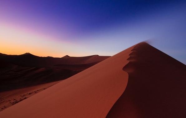 Picture sand, the sky, sunrise, desert, dunes, Africa, Namibia