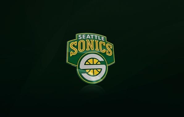 Picture Green, Basketball, Background, Seattle, Logo, NBA, Supersonic, Seattle Supersonic